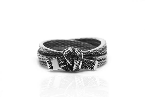 Black Belt Silver Ring Martial Arts Gift Karate Judo BJJ