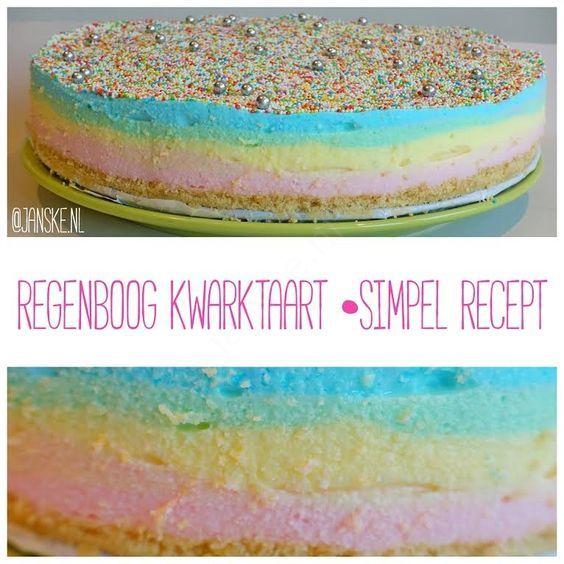 Blog post at Janske.nl : Wil jij ook graag een kleurrijke regenboogtaart maken voor een feestje en moet het niet allemaal super veel werk en moeilijkzijn? Dan is d[..]