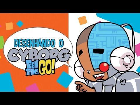 Como desenhar Cyborg - How to draw Cyborg - Teen Titans Go!