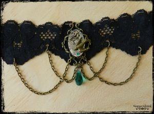 Image of Stunning Steampunk Bird Watch Choker Necklace