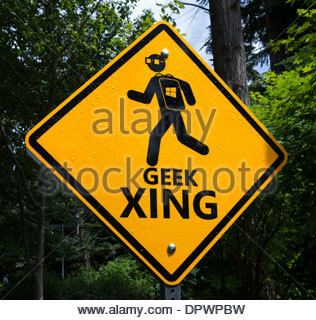 Geek Xing sign on the Microsoft Head Office Campus in Redmond, Washington, USA - Stock Photo