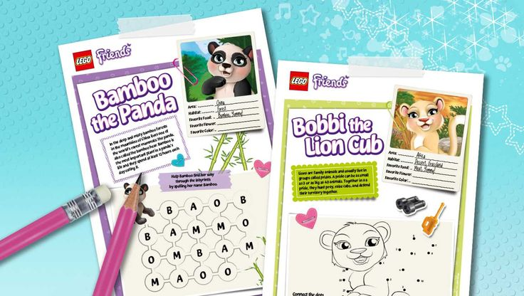 Download: Exotic animals facts and fun! - Downloads - Activities - LEGO® Friends - LEGO.com - Friends LEGO.com