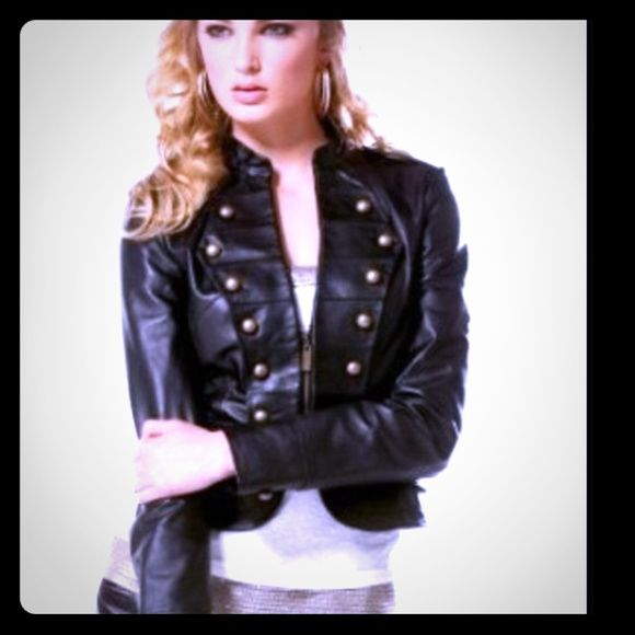 Female leather jacket Military leather jacket in great condition, Genuine leather  ️‼️Super Sale‼️‼️ Jackets & Coats