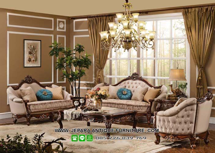 Kursi Sofa Tamu Mewah Model Kayu Jati Victorian Living Room Best Living Room Design Traditional Design Living Room Beautiful victorian dining room for