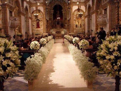 arranjos de flores para casamento na igreja - Pesquisa Google: