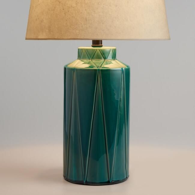 Green reactive glaze vera table lamp base v1