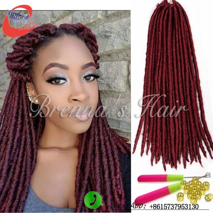 Nouveau Faux Locs Dread Verrouillage Cheveux Crochet Noir Dreadlocks cheveux crépus torsion crochet tresses cheveux freetress