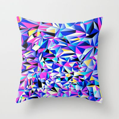 Pink & Blue No. 1 Throw Pillow by House of Jennifer - $20.00