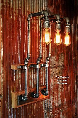 Steampunk Lamp Industrial Machine Age Steam Gauge Light Train Loft Wall Sconce