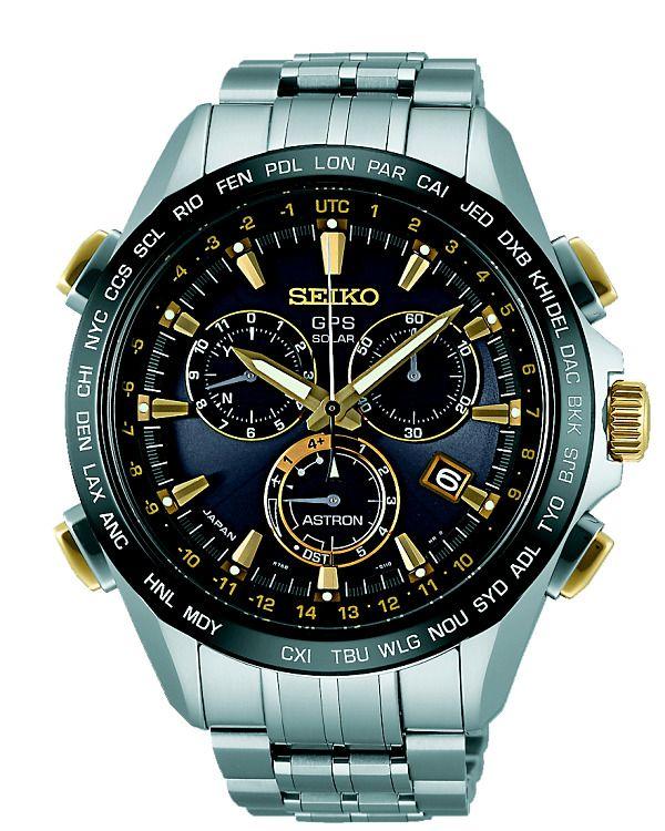 Seiko opět první! Pánské náramkové hodinky SEIKO se solárním pohonem,s GPS, se stopkami. Čas se automaticky nařídí ve všech 40 časových pásmech. Odchylka přesnosti chodu 1 sekunda za 100.000 let