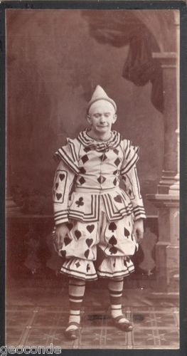 Beautiful Large Cabinet Photo Sad Male Clown Pierrot Playing Card Costume | eBay  sc 1 st  Pinterest & 23 best Strange Bizarre and Unexpected images on Pinterest | Leslie ...
