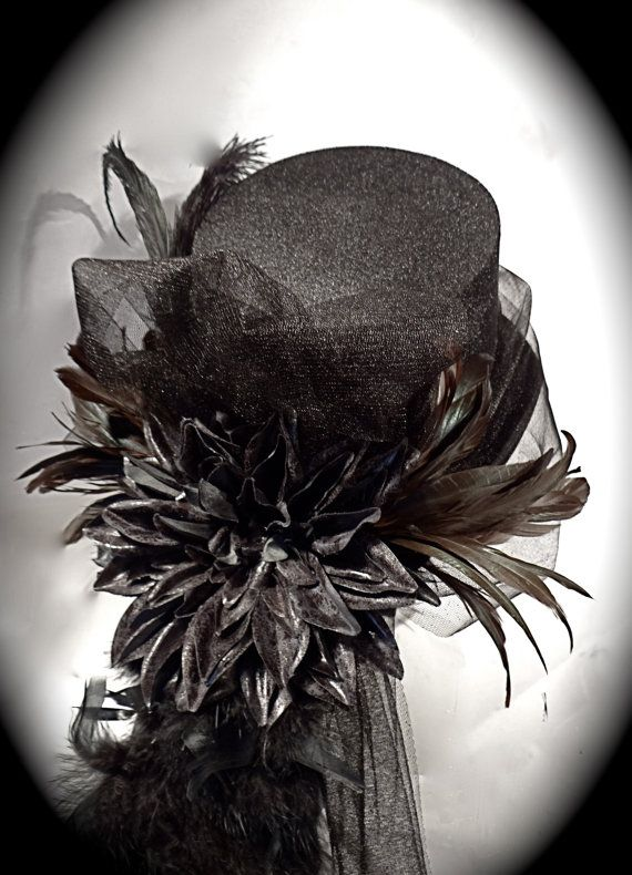 Skull Top Hat Gothic Steampunk  Costume OOAK by Marcellefinery, $54.00