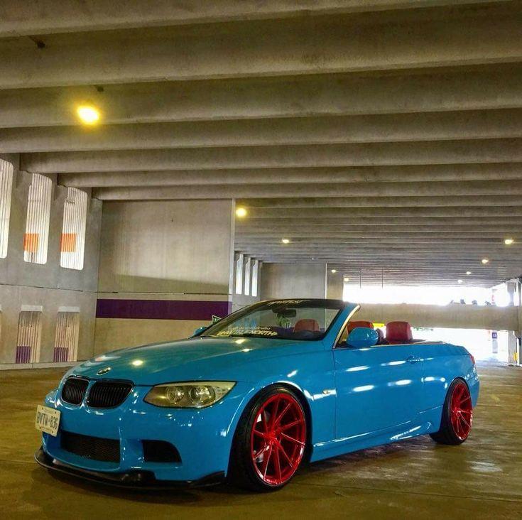 BMW E93 3 series cabrio blue