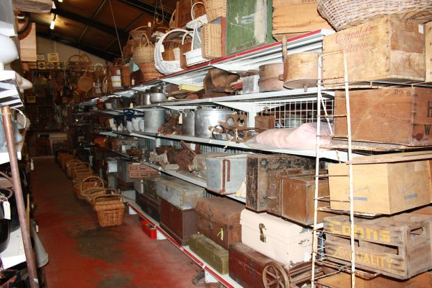 Vintage shops Byron Bay - Heath's Old Wares in Bangalow. So many rustic collections