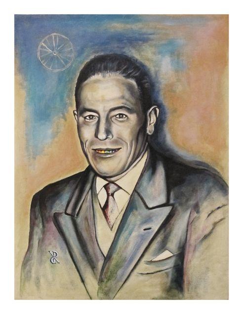 Riccardo_Soloperto/ Rainbow smile granpa - Oil on canvas - 30cmx40cm