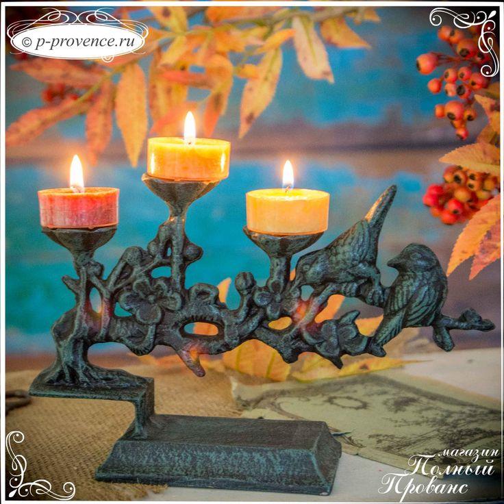 Подсвечник 14357 Цветущая ветвь, на три свечи