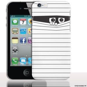 Coque personnalisée la Momie pour Apple Iphone 4S/4 - Housse de silicone Apple. #Coque #apple #iphone #4 #4s #momie #fun #originale