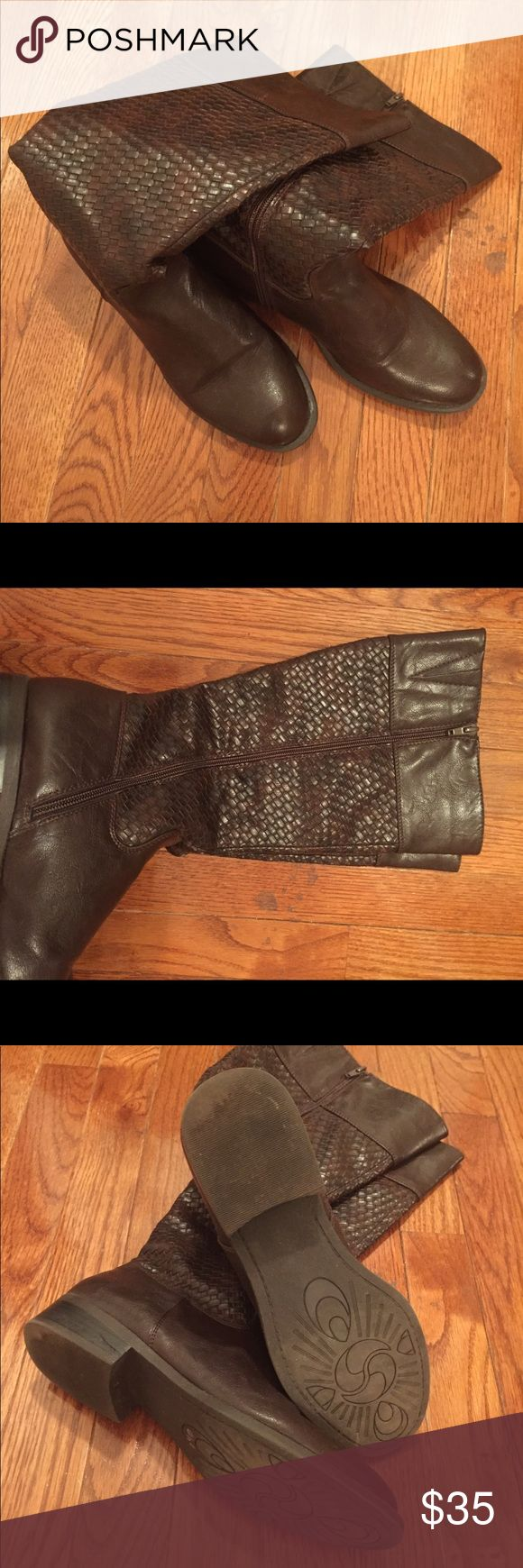 Rider Boots Brown Weave Woven Rider Boots White Mountain Shoes