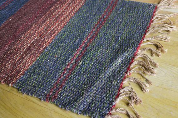 Handwoven Jute Rug Jute Dhurrie Handmade Rug Small Mat