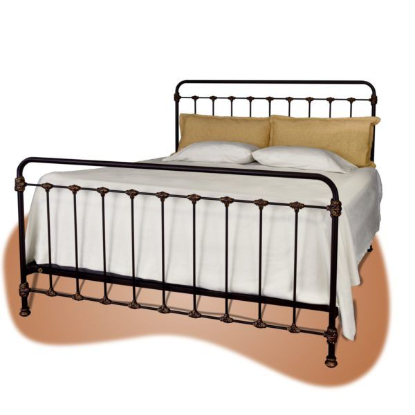 160 Iron Bed In Transbrown Copper Distress Handpainted Finish