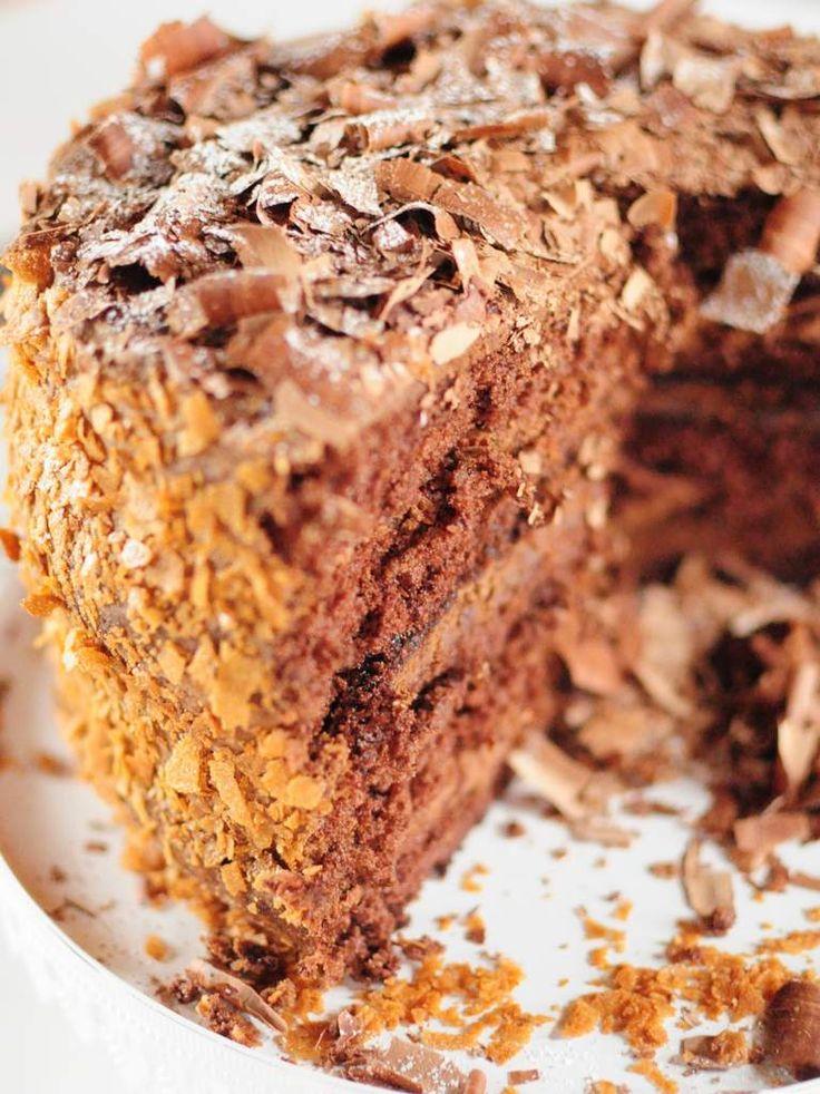 Layer cake à la mousse au chocolat de Rachel Allen