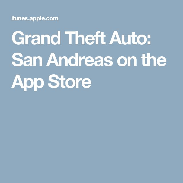 Grand Theft Auto: San Andreas on the App Store
