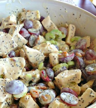Sonoma Chicken Salad - Whole Foods' Recipe - {loaded with tender chicken breast, red seedless grapes, crunchy pecans, crisp celery, tossed i...