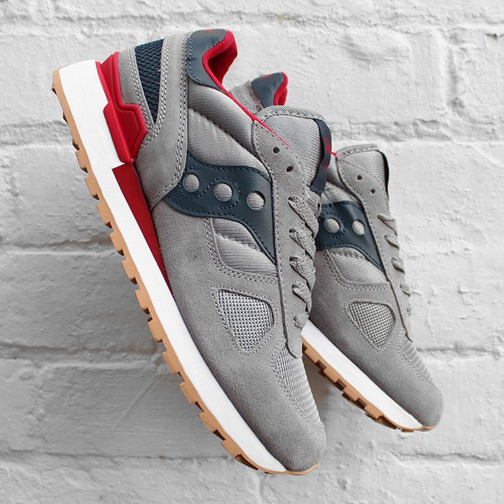 detailed look 87b16 22c66 Saucony Shadow Original Grey Red | Shoes | Sneakers, Shoes ...