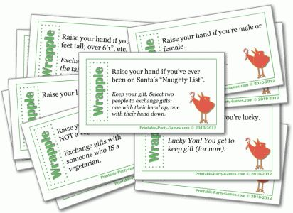 Wrapple is a great adult or office Christmas gift exchange game that's also an ice breaker game. Love this!
