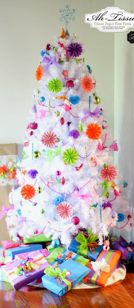 Christmas Tree ● Fun Colors-I couldn't do this...not quite traditional enough but SO pretty!