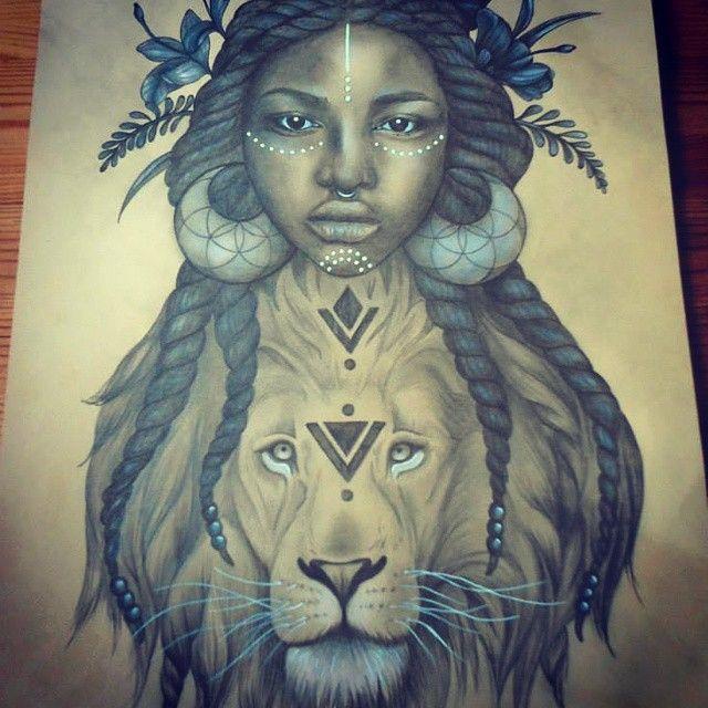 25 best african queen tattoo ideas on pinterest for Black african queen tattoos