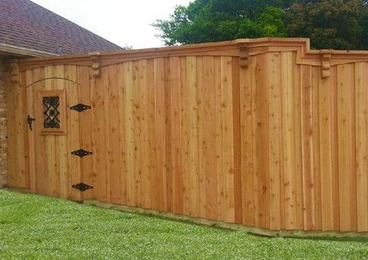 8 Ft Board On Board Cedar Fence Lifetime Fence Wood