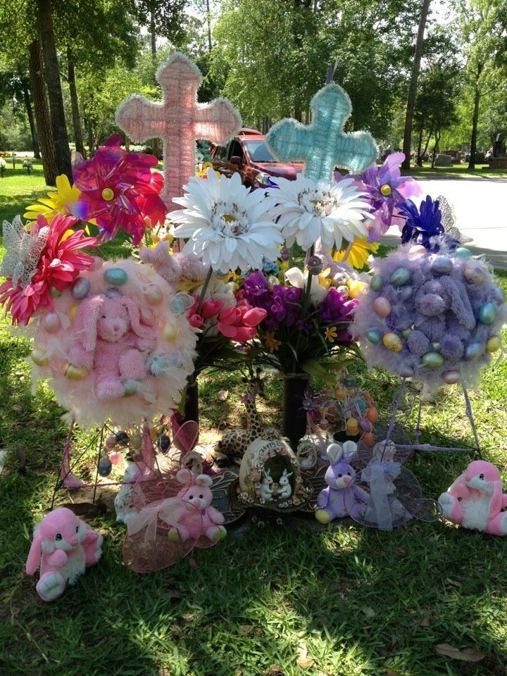Easter Cemetery Decorations