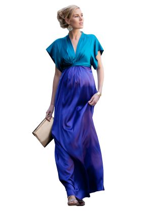 Belle Maxi Maternity Dress from Mine for Nine - a company like Rent The Runway but for pregnancy and maternity clothing