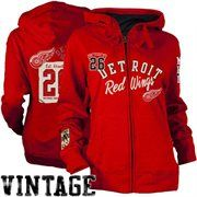 Old Time Hockey Detroit Red Wings Ladies Nadine Full Zip Hoodie - Red