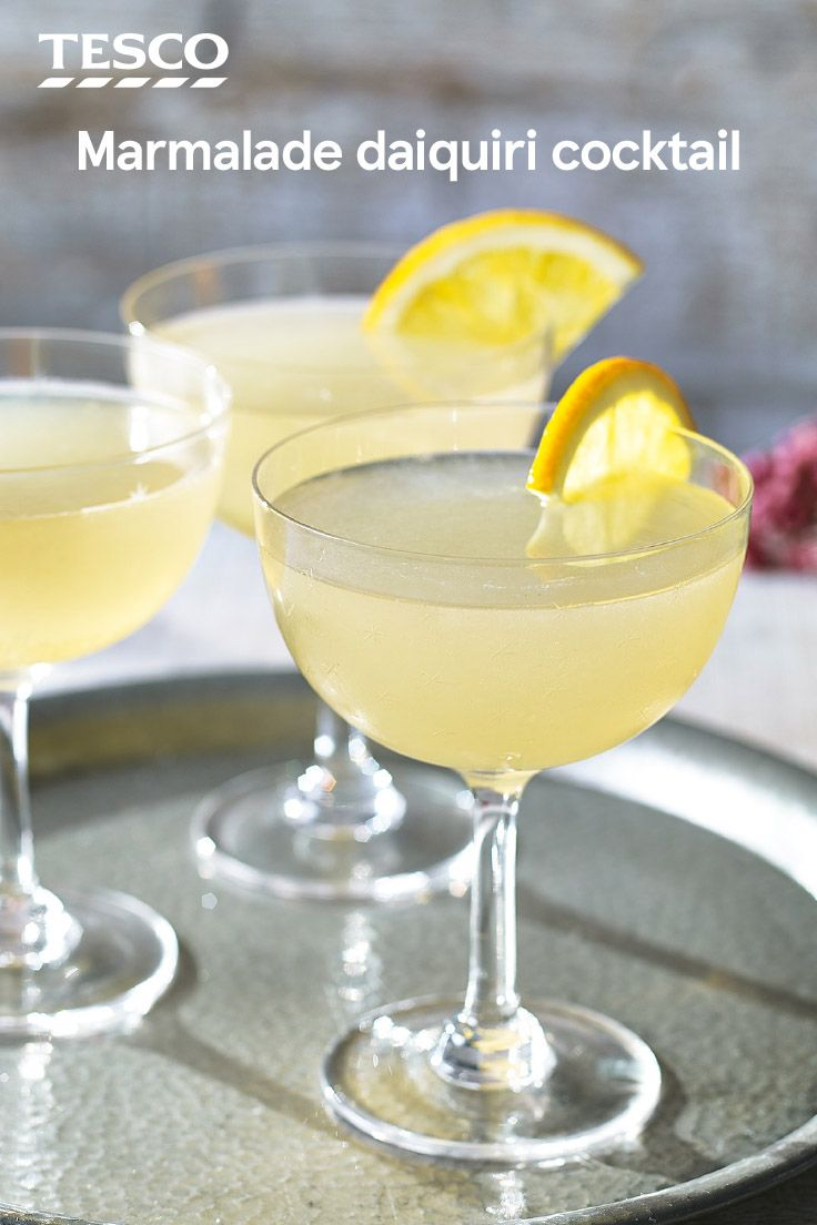 Add a citrus twist to a classic daiquiri cocktail for an elegant Christmas drink. This marmalade daiquiri pairs zesty lime with sweet orange marmalade and rum for an impressive drink that's perfect for all your festive celebrations. | Tesco