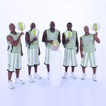 Printed  for the Harlem Globetrotters for Pistachios Commercial [Ink & Thread LA]