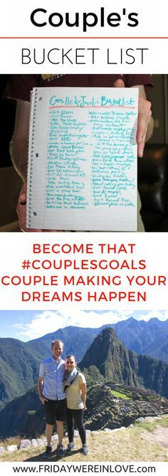 Creating a Couple's Bucket List: Become that couples goals couple by planning your dreams and ways to make them happen   couple goals   couple goals bucket lists  couple goals relationships   couples goals