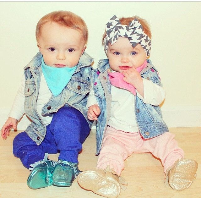 Boy and Girl Twin Outfits Bringing Baby Home by CurlyQsCounter, $59.50