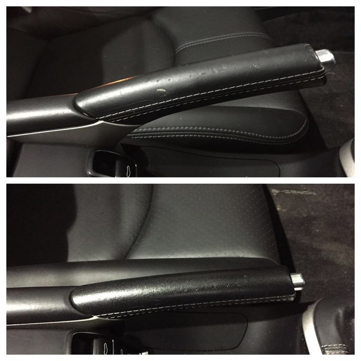 #SMARTrepairs in peculiar leather places... #Porsche handbrake Perfect Detail perfection by Gary.