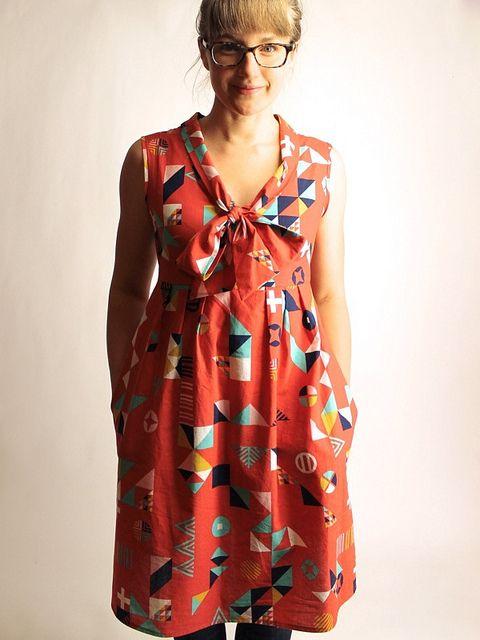 Motif Madness Washi Dress by madebyrae, via Flickr