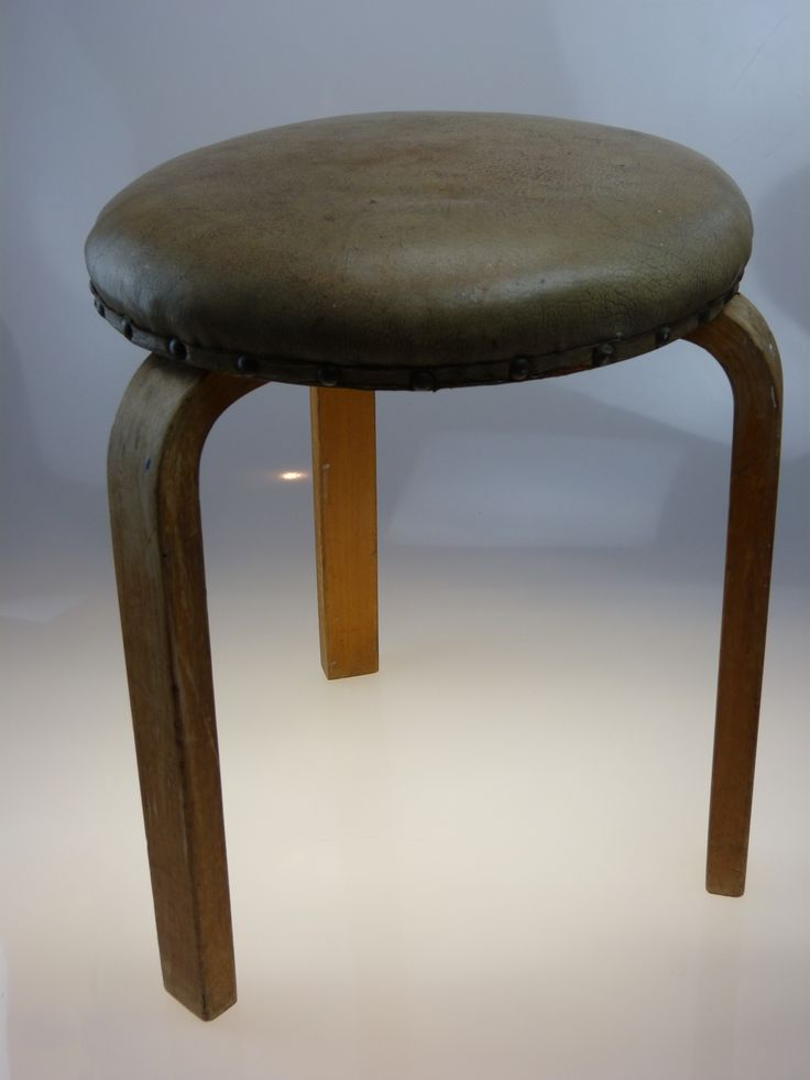 Leather Alvar Aalto Artek Stool 60 Finmar Made In