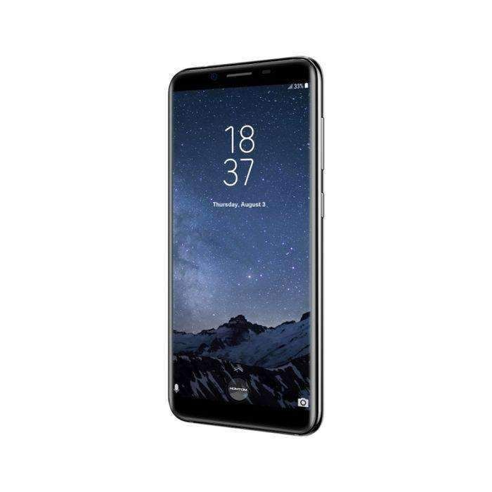 Black Homtom S8 4gb+64gb Dual Back Cameras Fingerprint Identification 5.7 Inch 2.5d Android 7.0 Mtk6