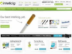 Intellicig  10% off all orders. All the latest free Intellicig voucher codes, discount codes, discount vouchers. Valid free January 2014 voucher codes for Intellicig