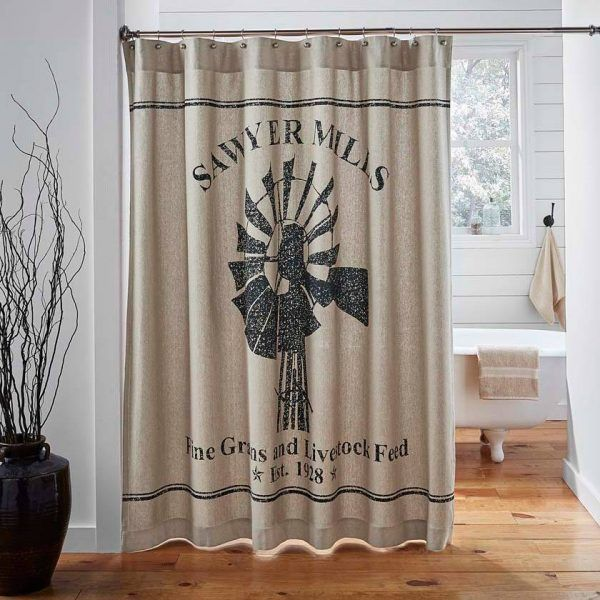 Sawyer Mill Shower Curtain Rustic Shower Curtains Fabric Shower