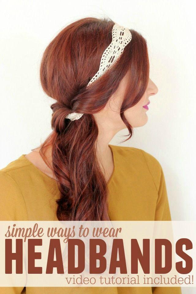 17 Best Ideas About Headband Hairstyles On Pinterest