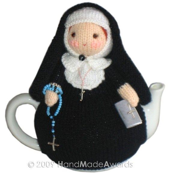 Mary nun from the Vaticano tea cosy Pdf email by HandMadeAwards, $4.50