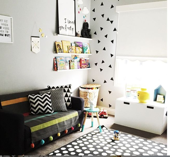 A Lovely Playroom Featuring The Wall Stickers Among Other Kmart Pieces By  Lovelisamaree On Instagram