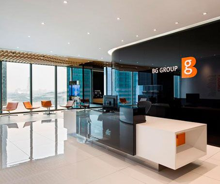 Contours Are An Omnipresent Design Element And A Unique Branding Statement In BG Groups New Singapore Office At Asia Square