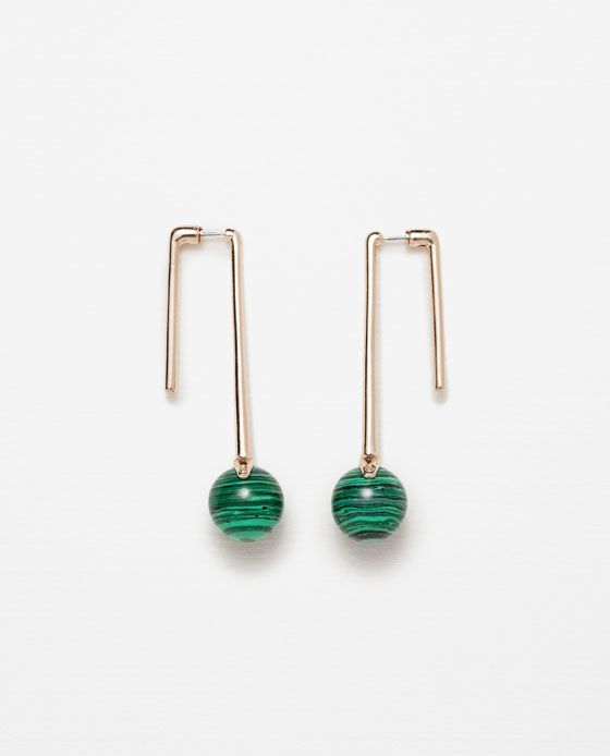 Image 1 of EARRINGS WITH ROUND STONES from Zara